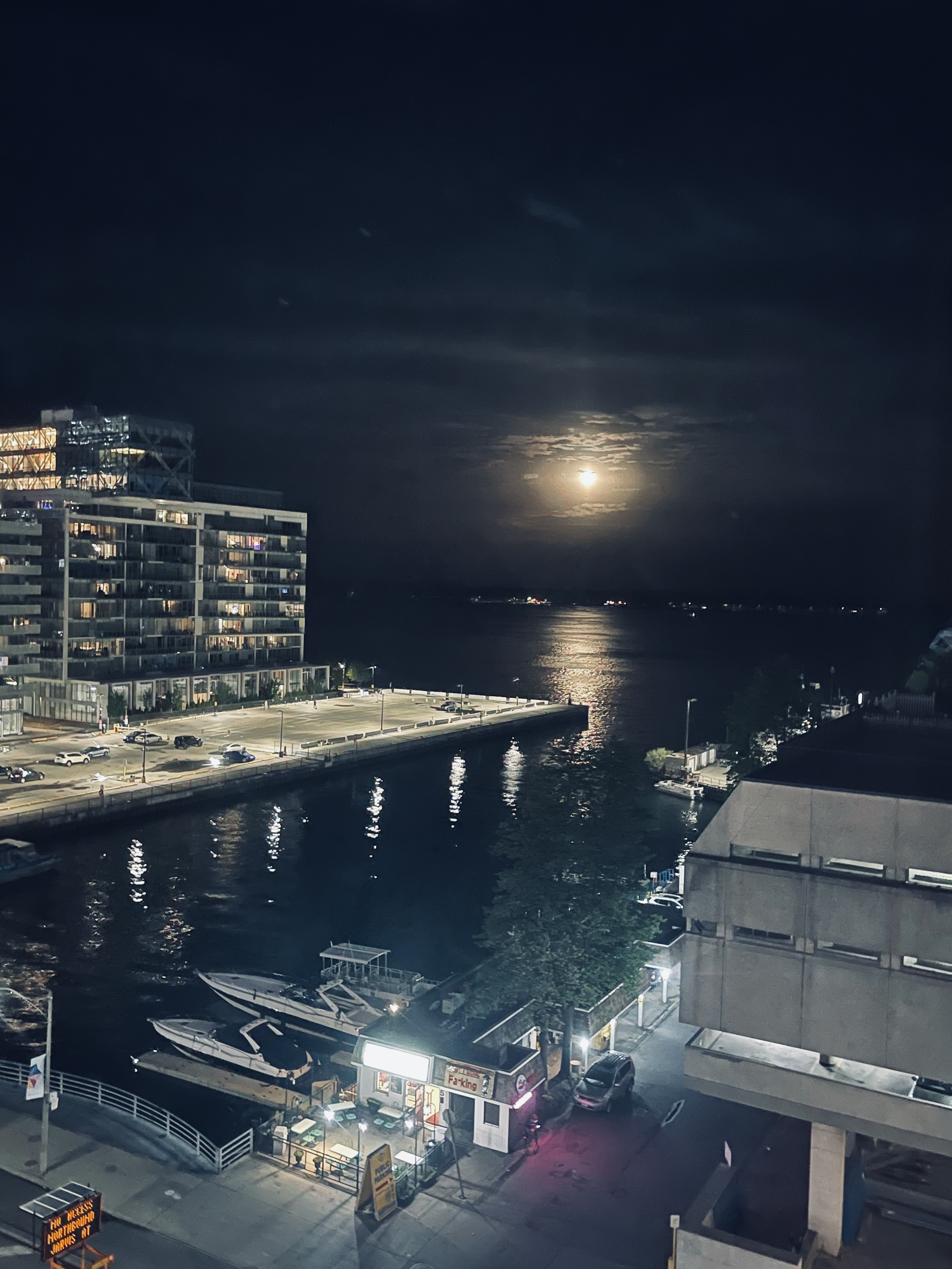 Full moon over the Toronto Waterfront